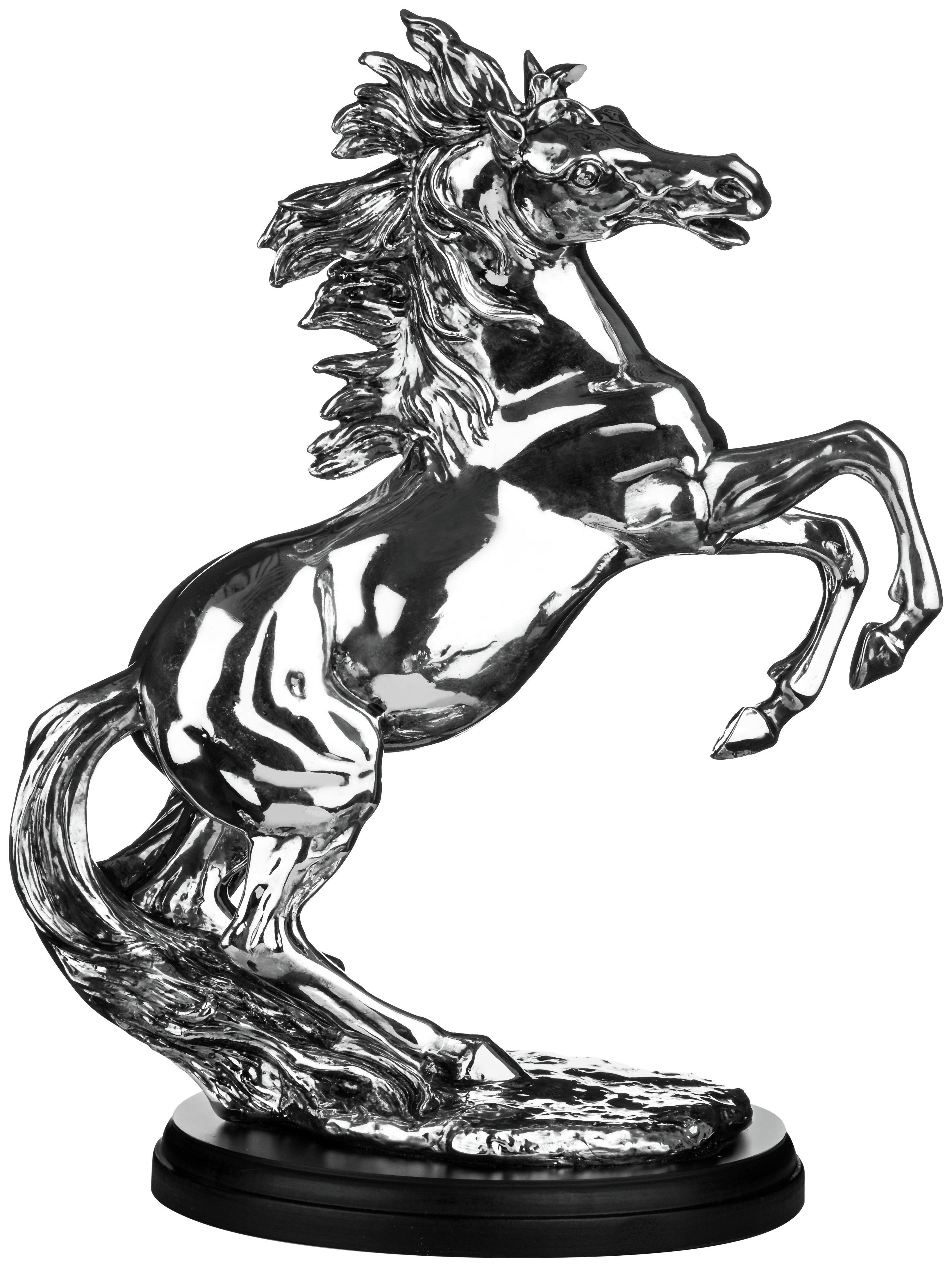 Premier Housewares Silver Stallion Sculpture. lowest price