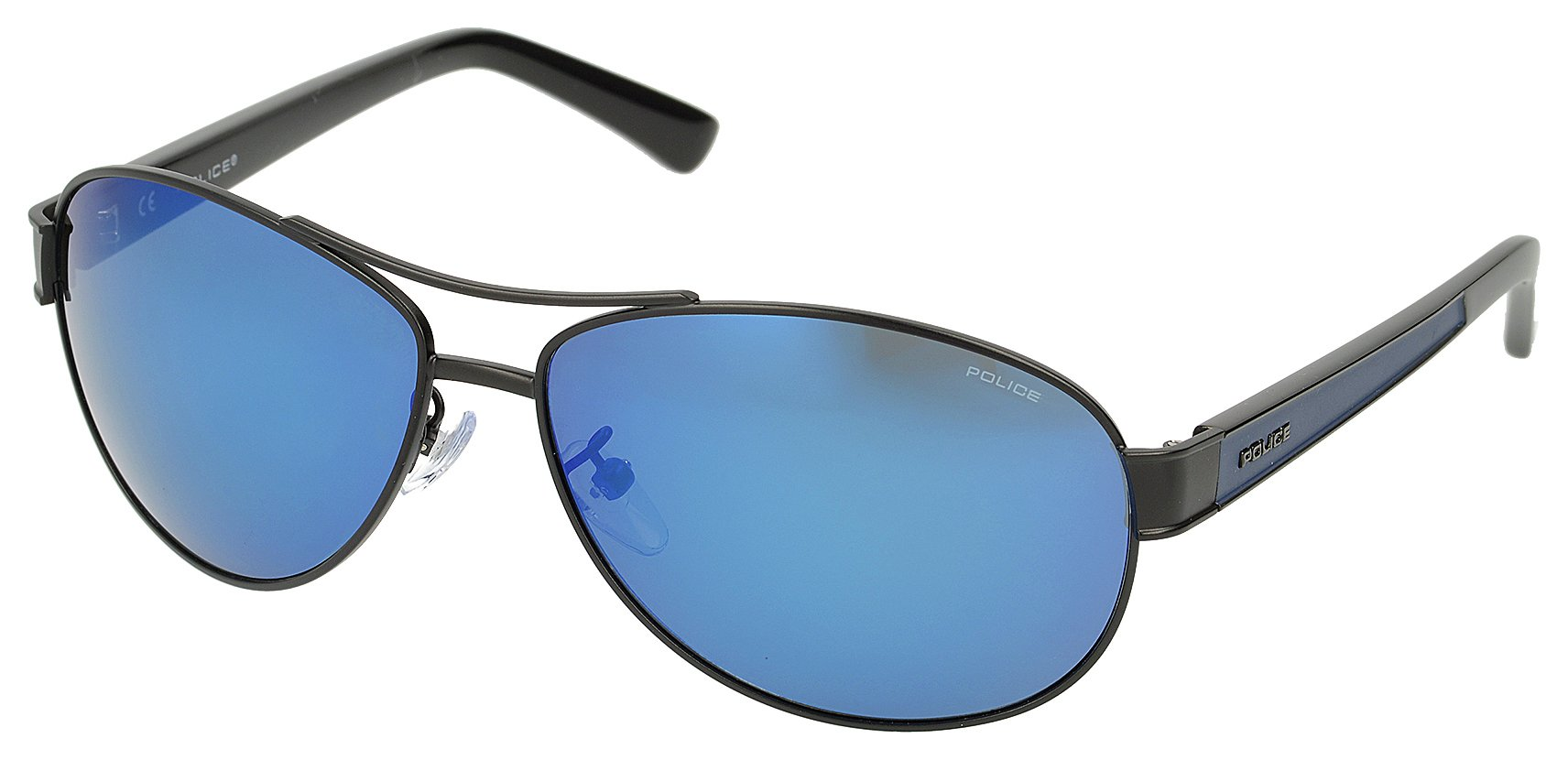 police-matt-black-oval-aviator-with-blue-mirror-lens