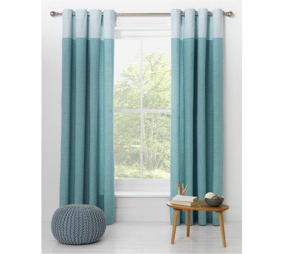 Buy HOME Dublin Unlined Eyelet Curtains 168 X 183cm Duck Egg At Argoscouk Your Online