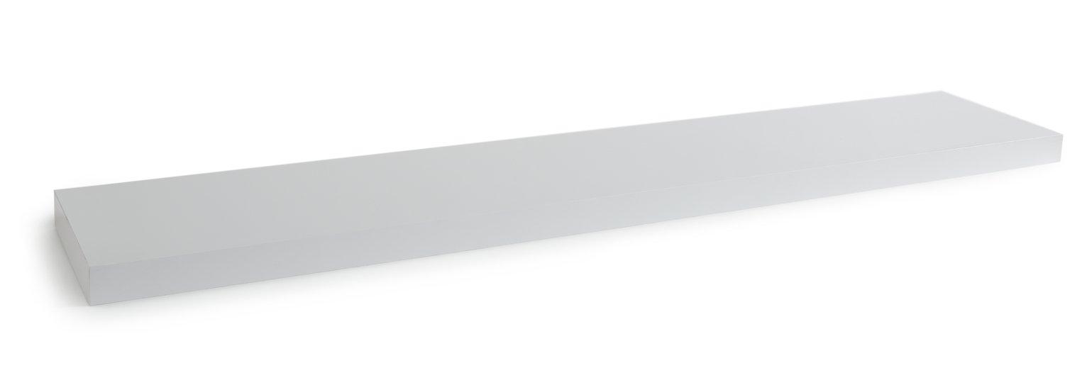 Habitat Jak 120cm Floating Shelf - High White Gloss