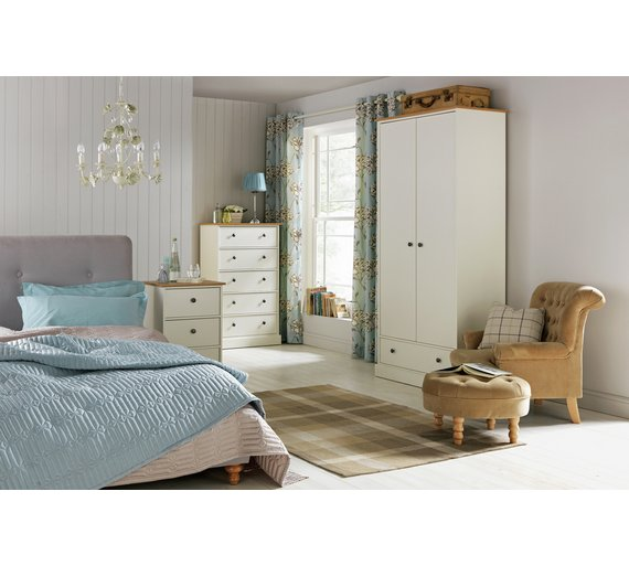 Buy Collection Kensington Dr Drw Wardrobe Oak EffectIvory - Argos modular bedroom furniture