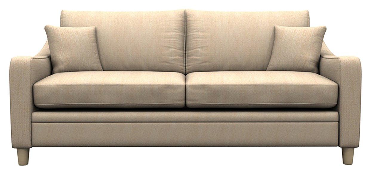 Heart of House Newbury 3 Seater Fabric Sofa - Beige.