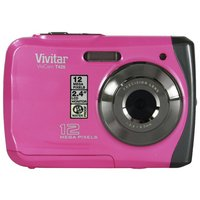 Vivitar - 12MP Waterproof Digital Camera - Pink