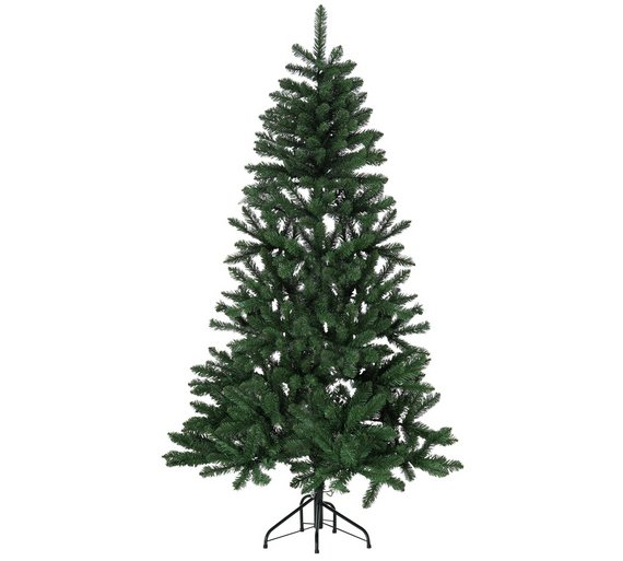 Buy 6ft Flat Backed Christmas Tree Green At Argos Co Uk Your  - 6 Ft Christmas Tree