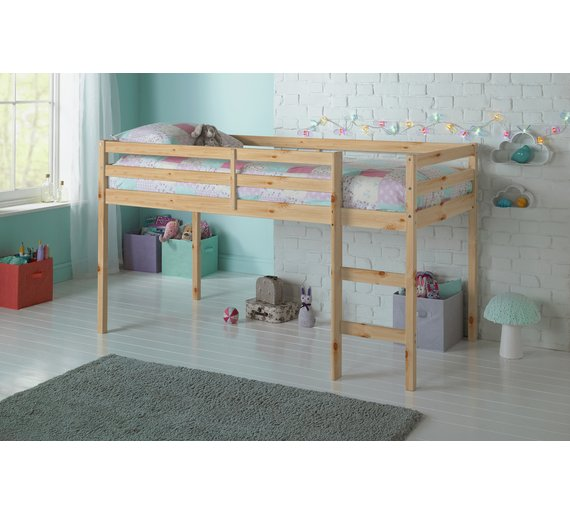 Buy Argos Home Kaycie Wooden Mid Sleeper Shorty Bed Frame - Pine ...