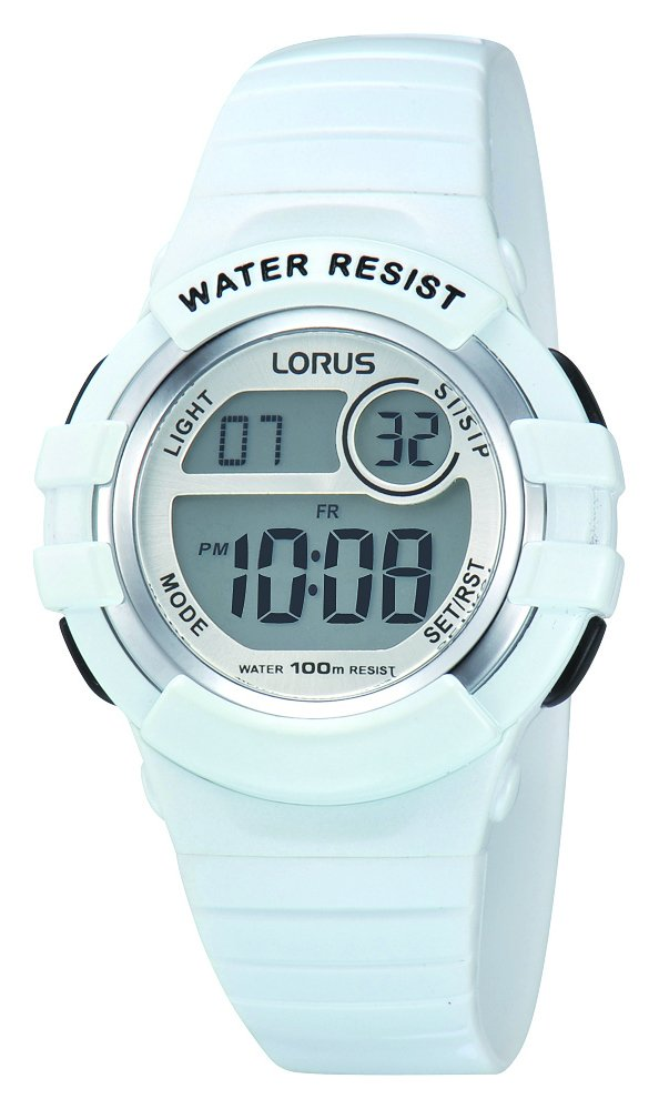 Lorus Ladies Digital Sports White Resin Strap Watch