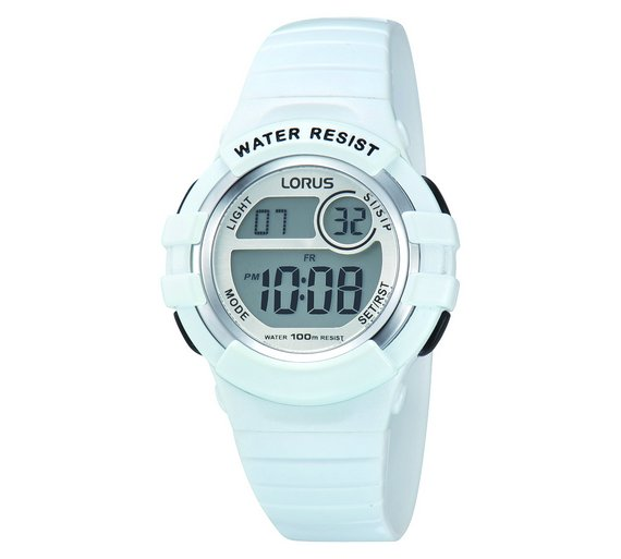 Buy Lorus Mid Size White Digital Sports Watch Ladies Watches Argos