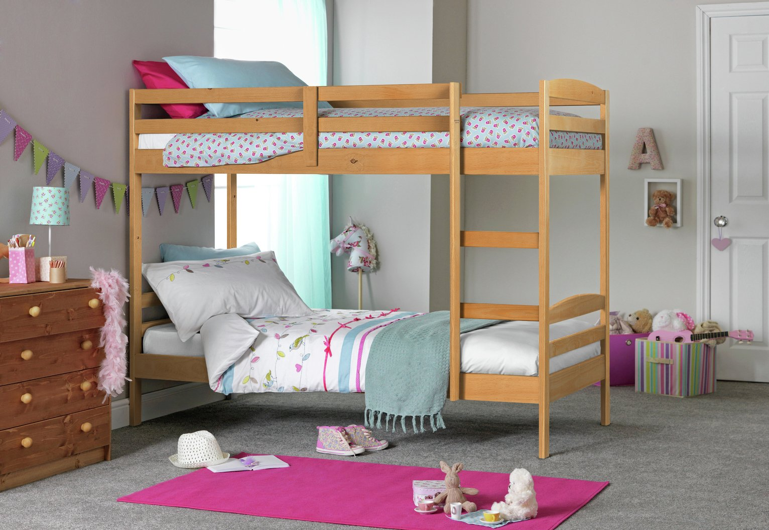 Argos Home Josie Shorty Bunk Bed Frame - Pine