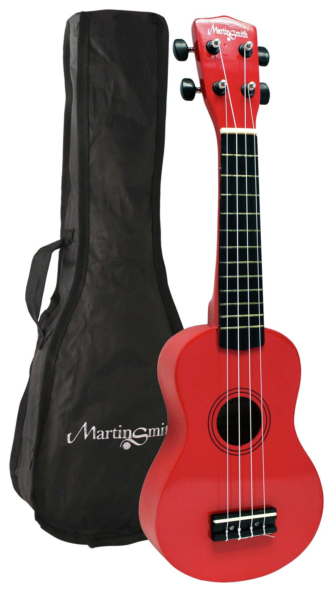 Martin Smith Soprano Size Ukulele - Red.
