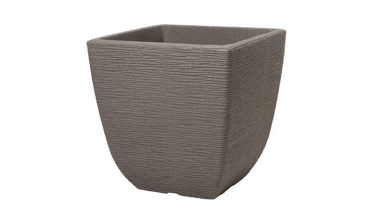 Keter 32cm Cotswold Square Planter - Dark Brown