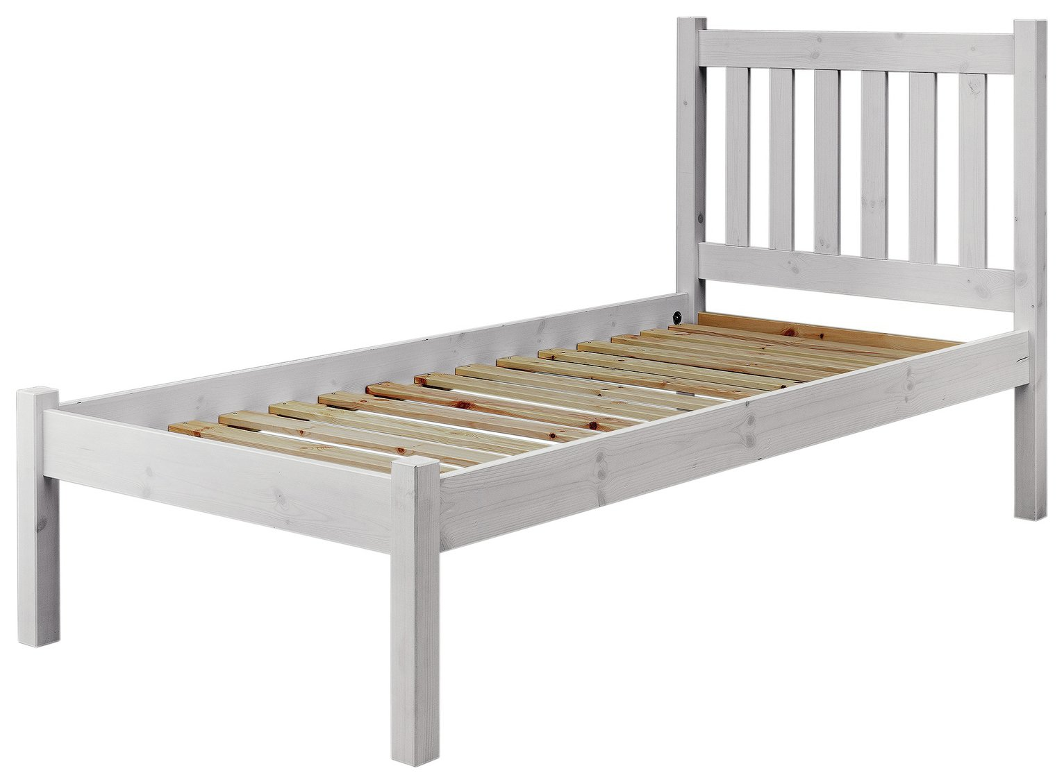 Image of Argos Home Silbury Single Bed Frame - Whitewash
