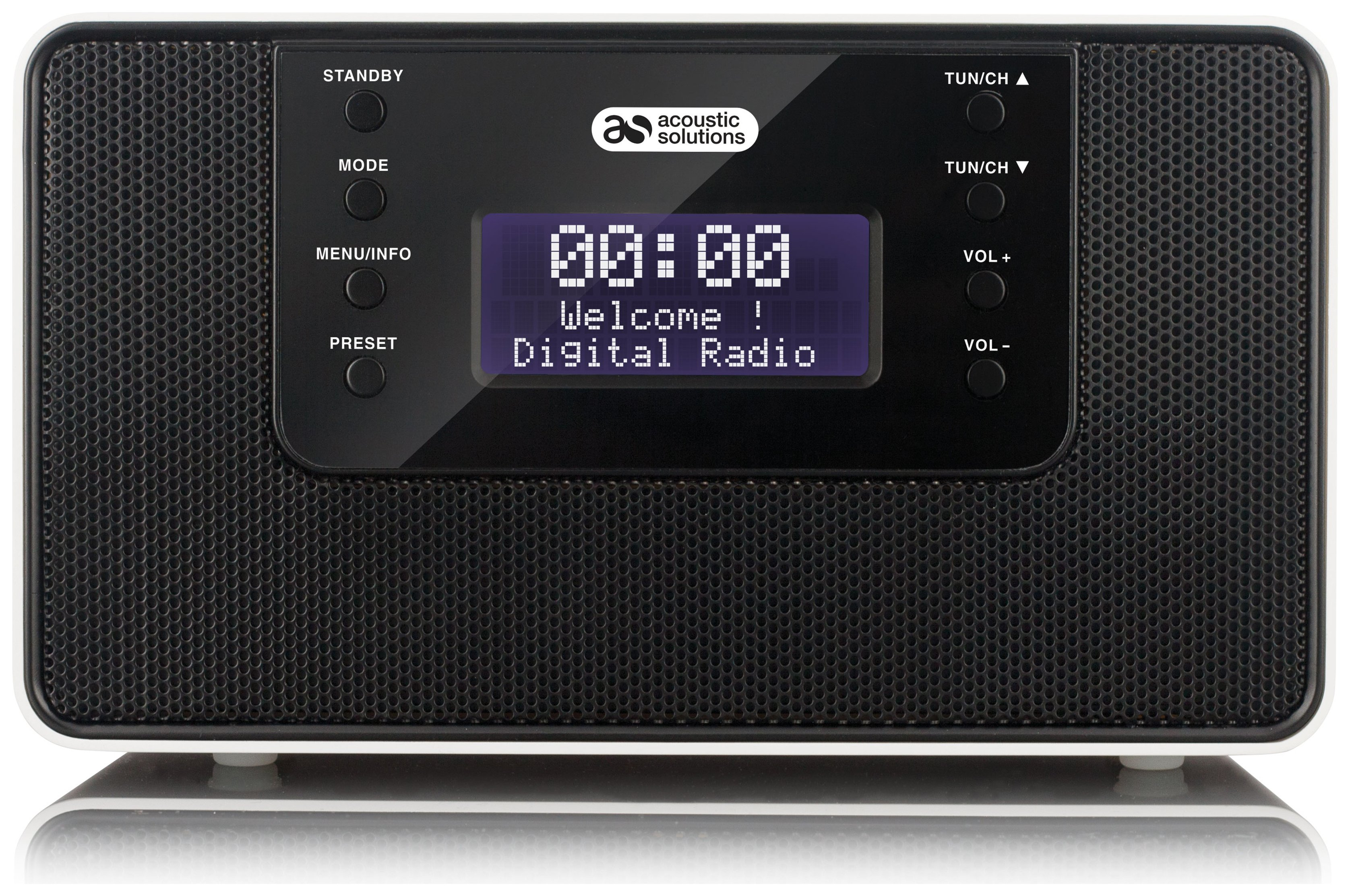 Acoustic Solutions Clock Radio - Black