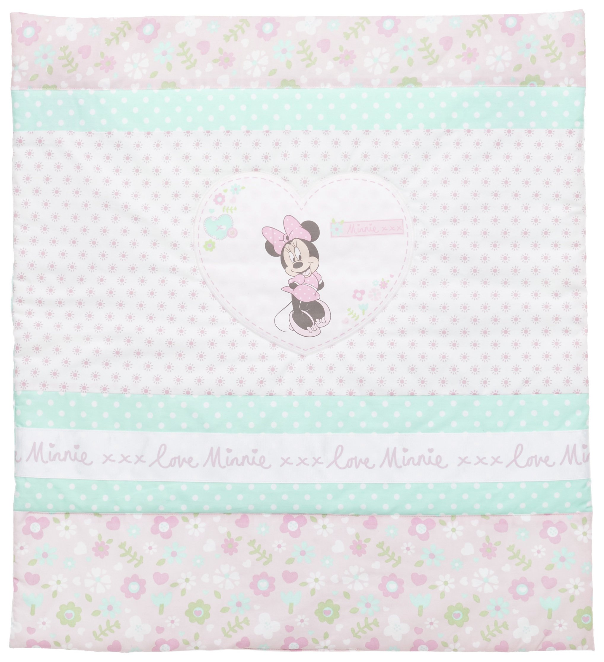 disney minnie mouse crib bedding set  pink.