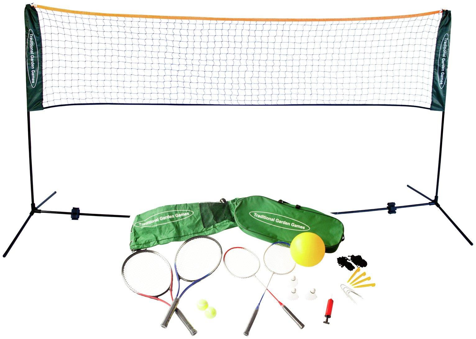 Traditional Garden Games   Badminton Volleyball & Tennis Set
