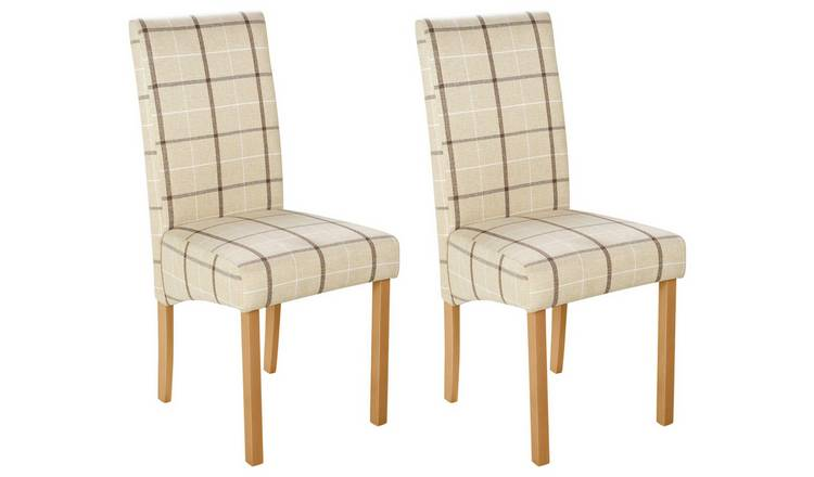 huge discount fde44 e4119 Buy Argos Home Pair of Fabric Skirted Chairs - Cream Check | Dining chairs  | Argos