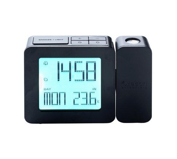 buy oregon projection temperature alarm clock at your online shop for clocks home. Black Bedroom Furniture Sets. Home Design Ideas