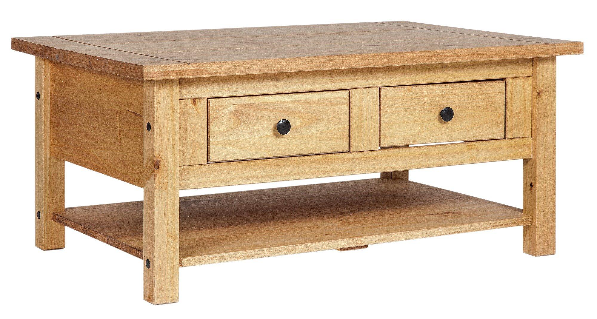 buy home san diego 2 drawers 1 shelf coffee table - pine at argos