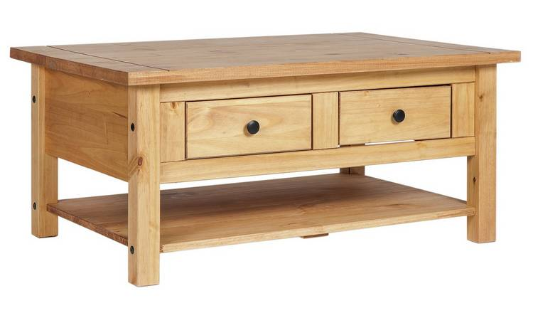 Buy Argos Home San Diego 2 Drawers 1 Shelf Coffee Table Pine