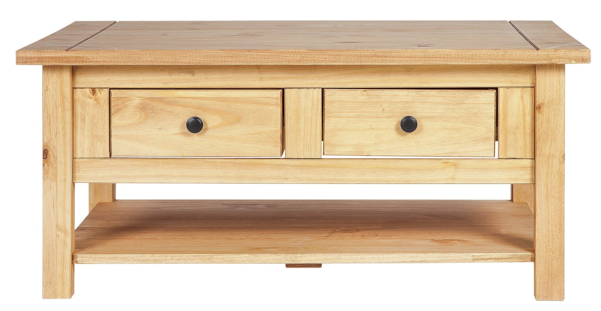 Buy HOME San Diego 2 Drawers 1 Shelf Coffee Table Pine Coffee