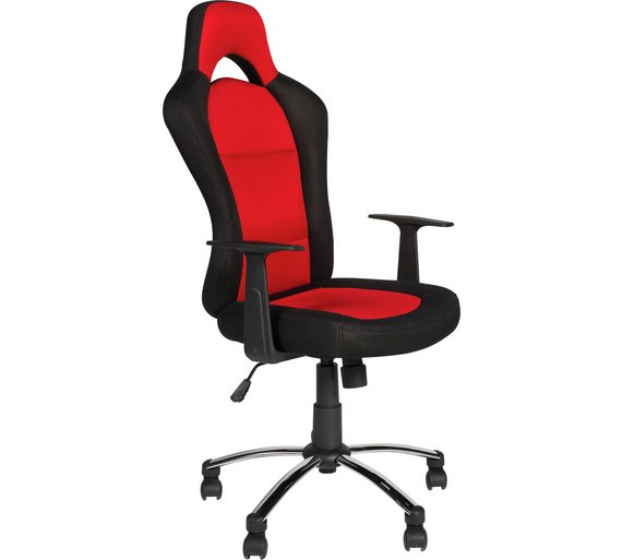 Buy home gaming adjustable office chair black and red at your online shop for Argos home office furniture uk