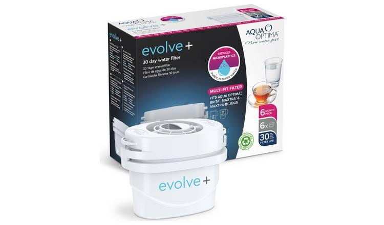 Aqua Optima Evolve Plus Water Filter Cartridges - Pack of 6