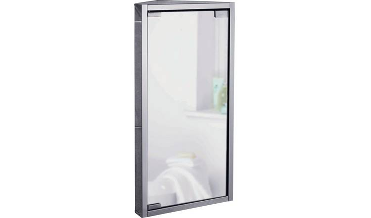 Buy Argos Home Stainless Steel 1 Door Mirrored Cabinet Bathroom Wall Cabinets Argos