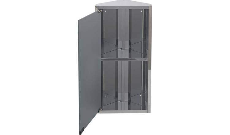 Buy Argos Home Stainless Steel 1 Door Mirrored Cabinet Bathroom Wall Cabinets Argos