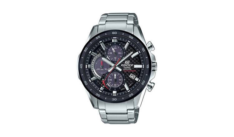 Edifice Mens  Chronograph Stainless Steel Watch
