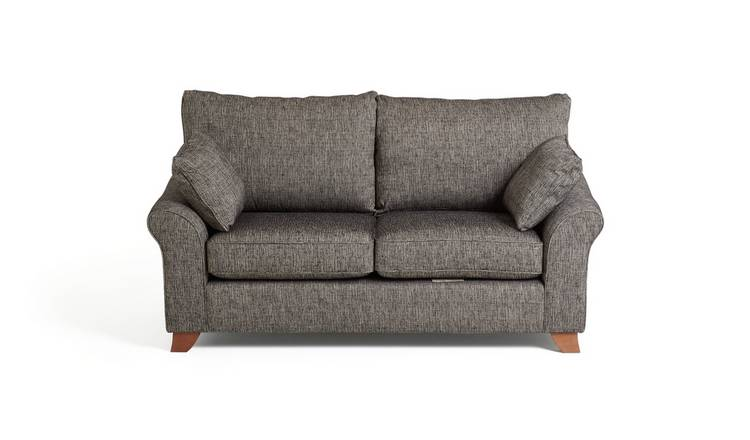 Argos Home Gracie 3 Seater Fabric Sofa - Charcoal