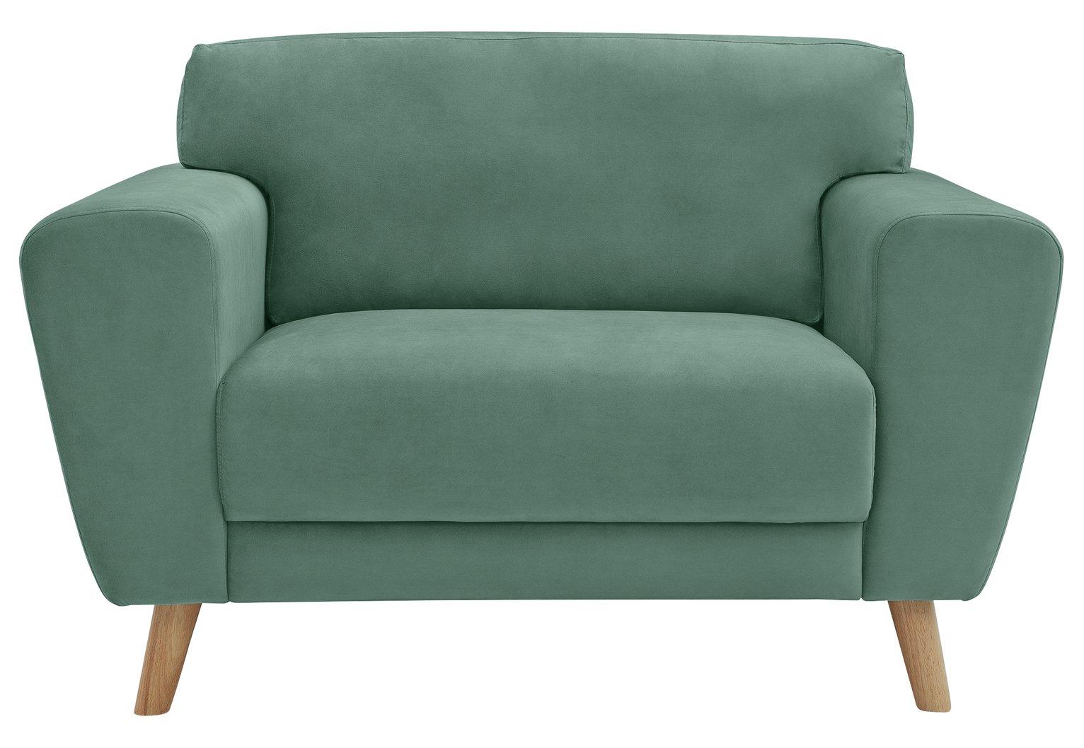 Habitat Snuggle Velvet Armchair - Blue