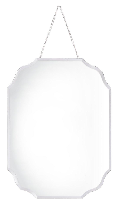 Innova Home Rectangular Bevelled Mirror and Chain Hanger