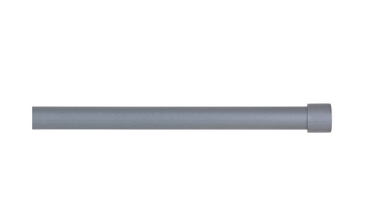 Argos Home Extendable Stopper Metal Curtain Pole - Silver