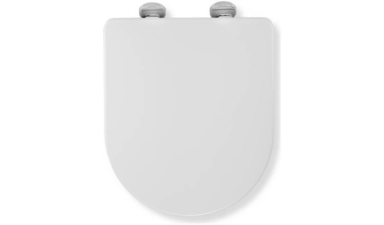 Croydex Eyre D-Shaped Toilet Seat - White