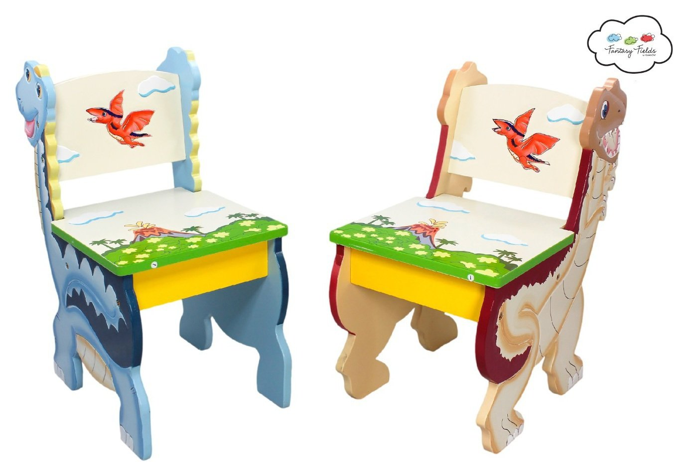 Image of Fantasy Fields Dinosaur Table and Chairs Set.