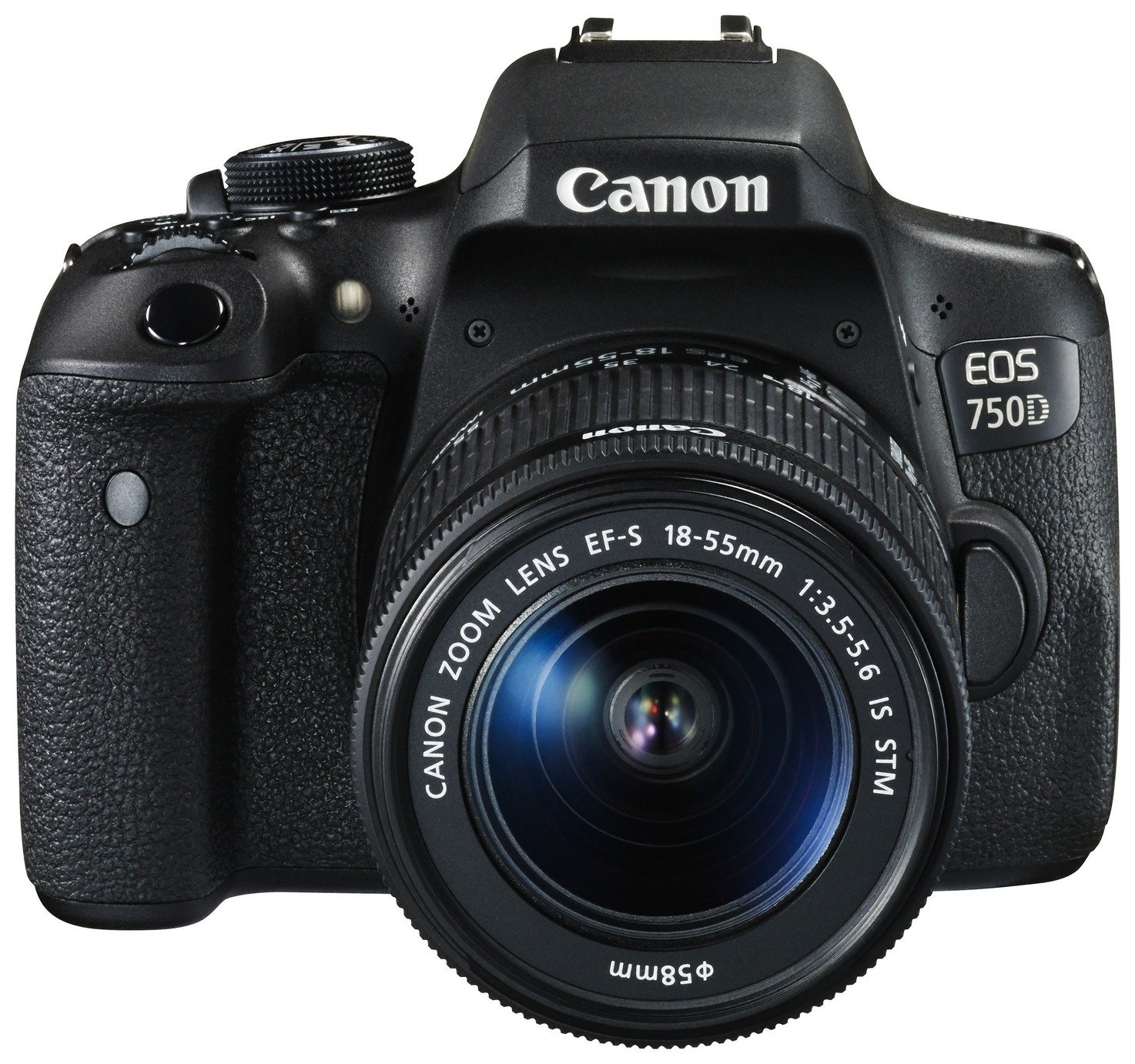 Image of Canon EOS 750D DSLR Camera with 18-135mm STM Lens - Black