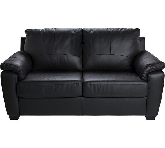 Black leather sofa bed argos for Argos chaise longue sofa bed