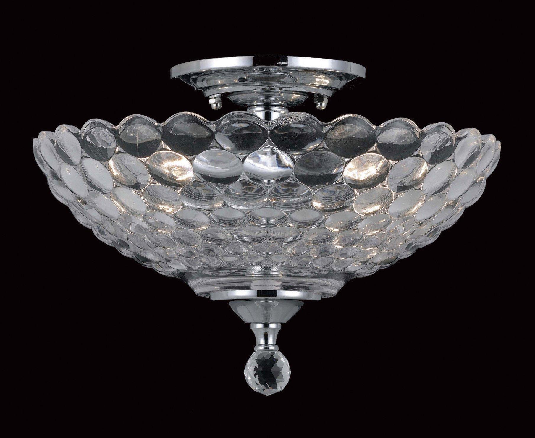 dallas glass 2 bulb semi flush light fitting review. Black Bedroom Furniture Sets. Home Design Ideas