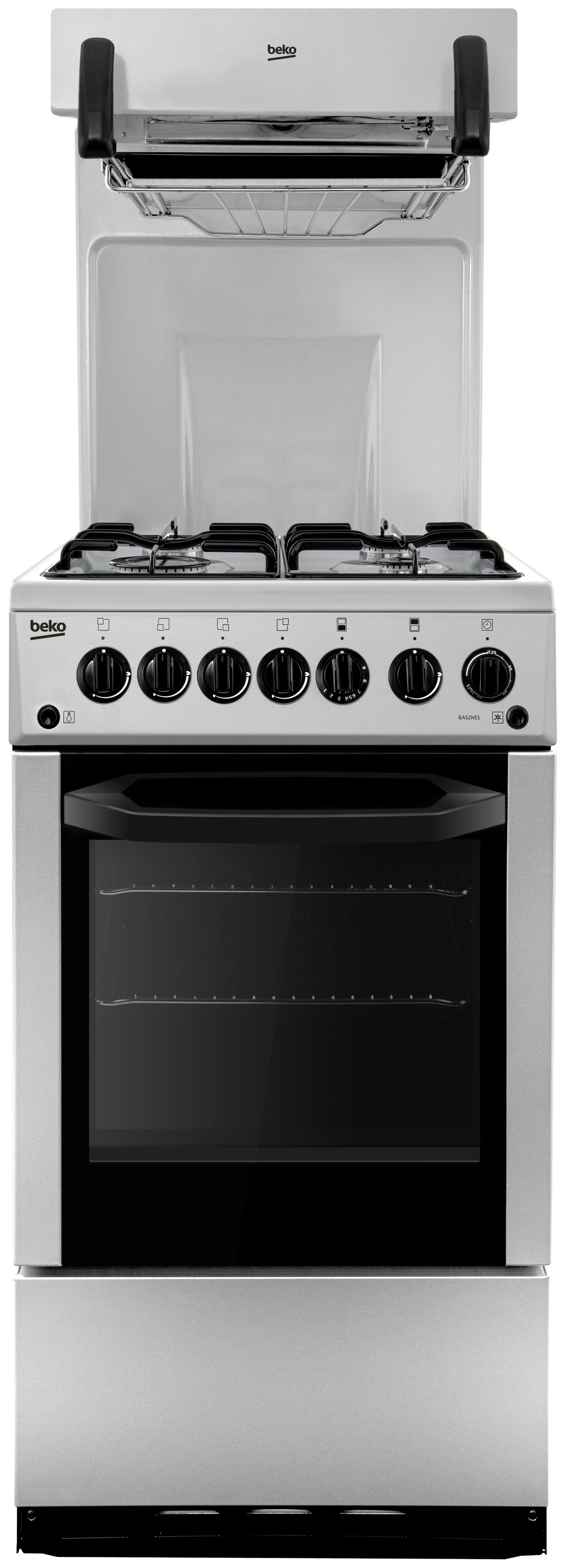 Beko - BA52NES - Gas Cooker - Silver