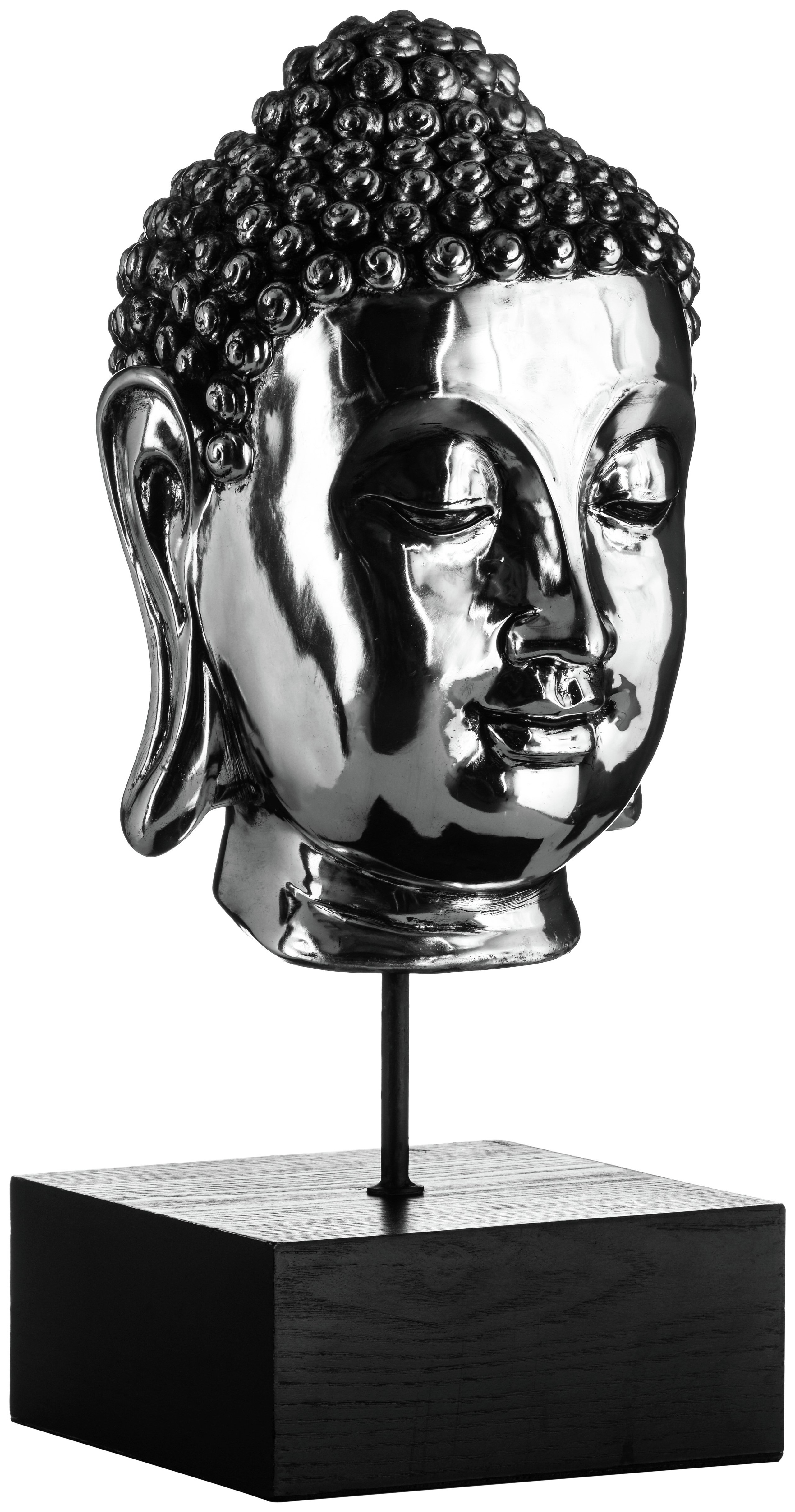 Premier Housewares Silver Buddha Head on Stand. lowest price