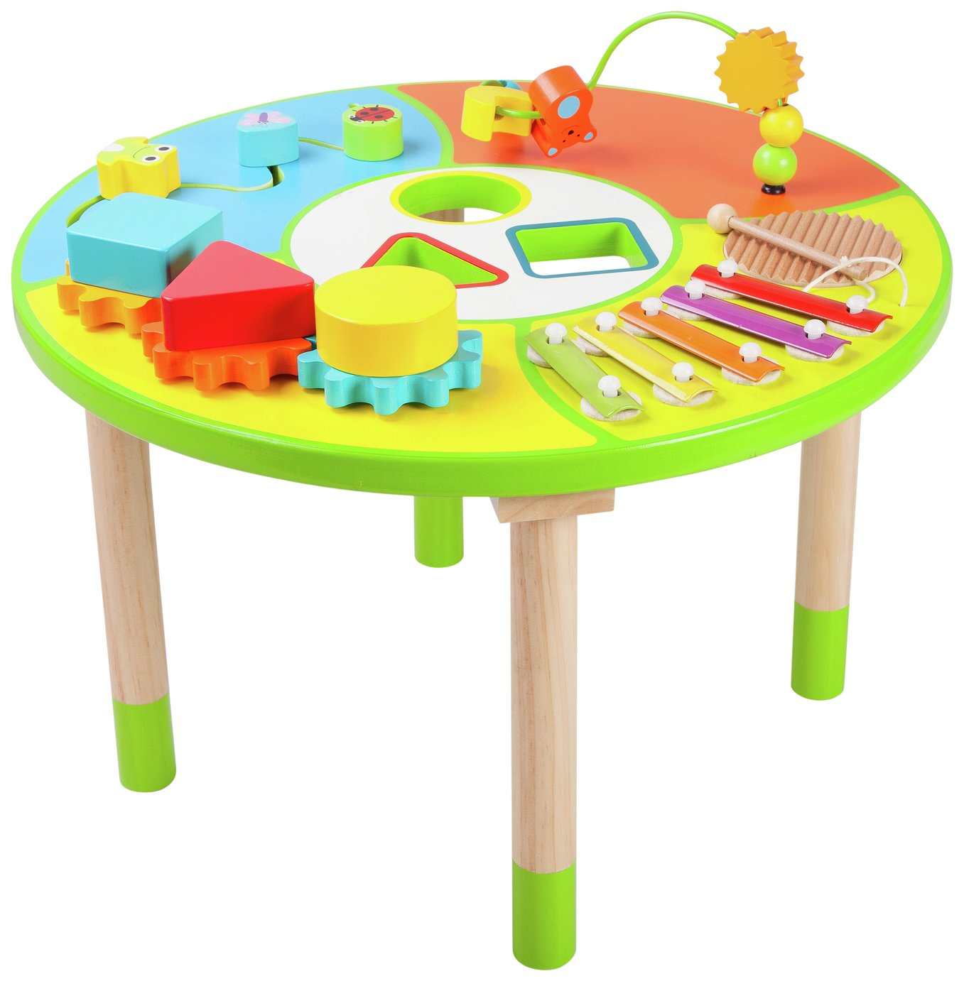 Table Top Toys For Preschoolers : Chad valley wooden activity table