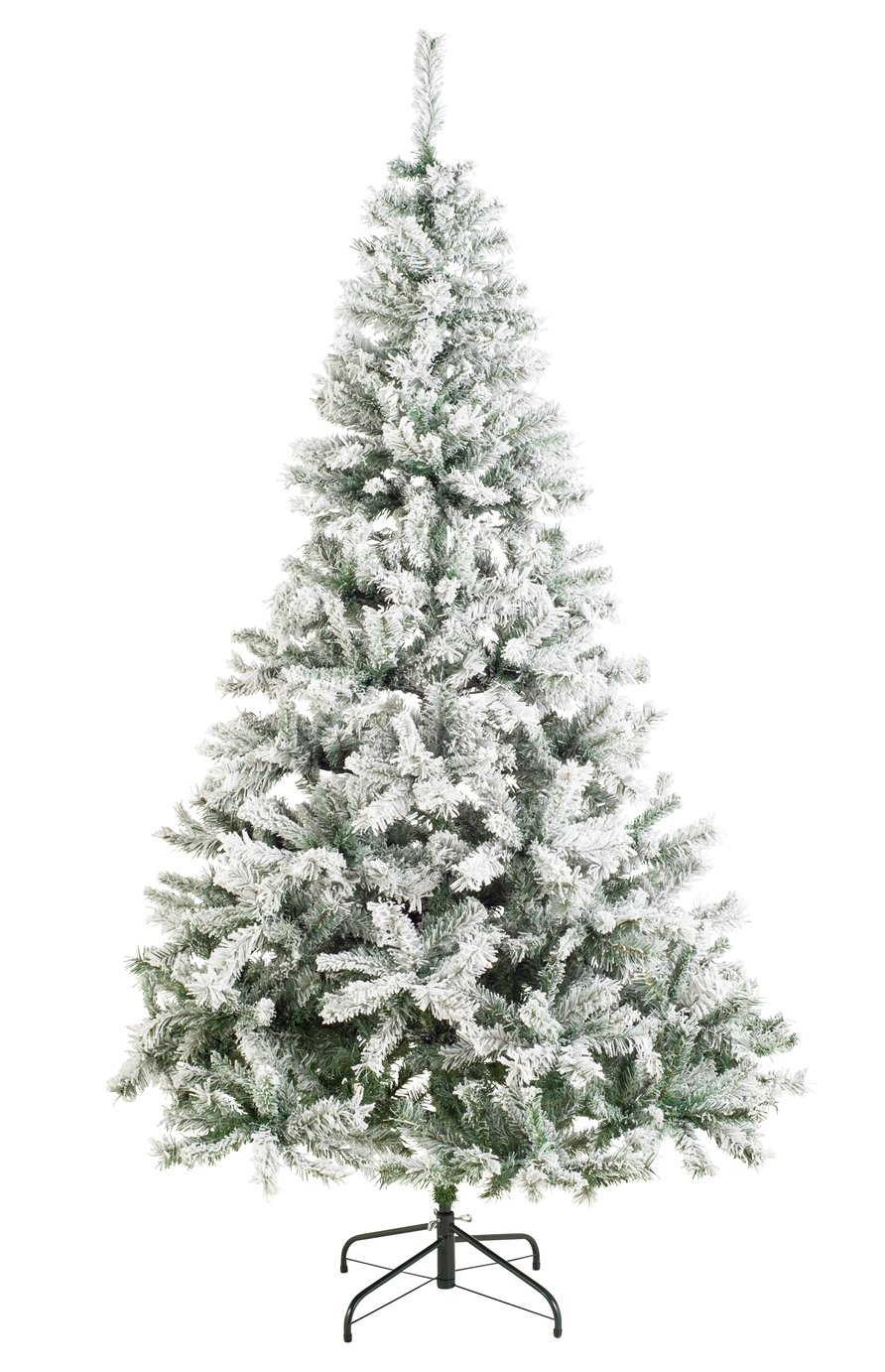 Argos Home 7ft Snow Covered Christmas Tree - Green