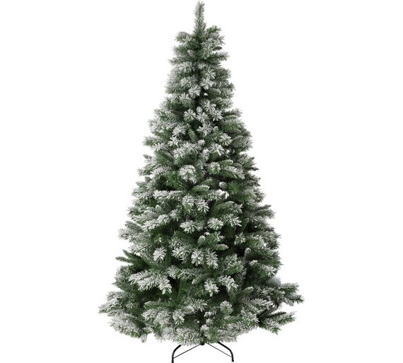 argos home 7ft snow covered christmas tree green