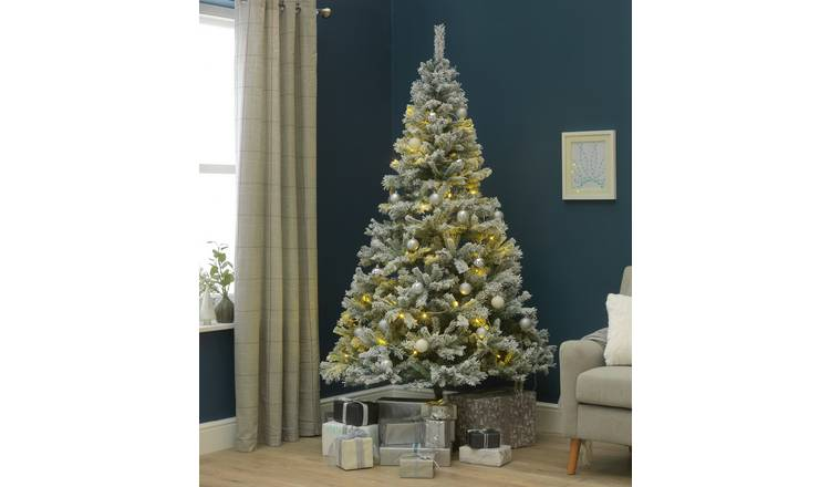 Buy Argos Home 7ft Snow Covered Christmas Tree