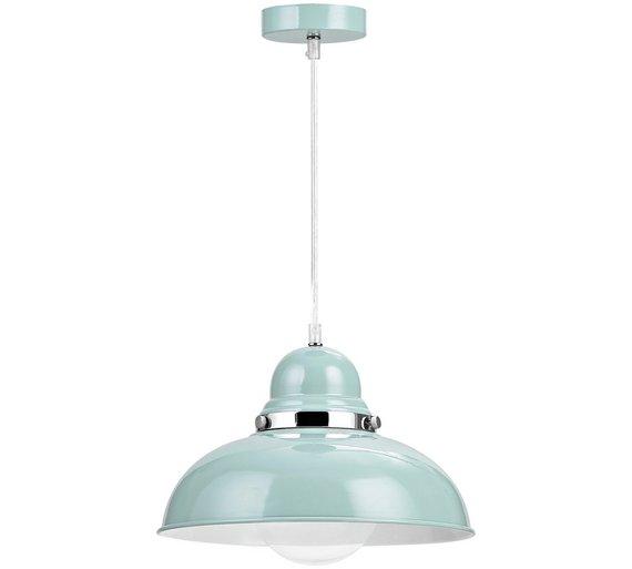 Buy Vermont Light Blue And Chrome Pendant Light At Argos