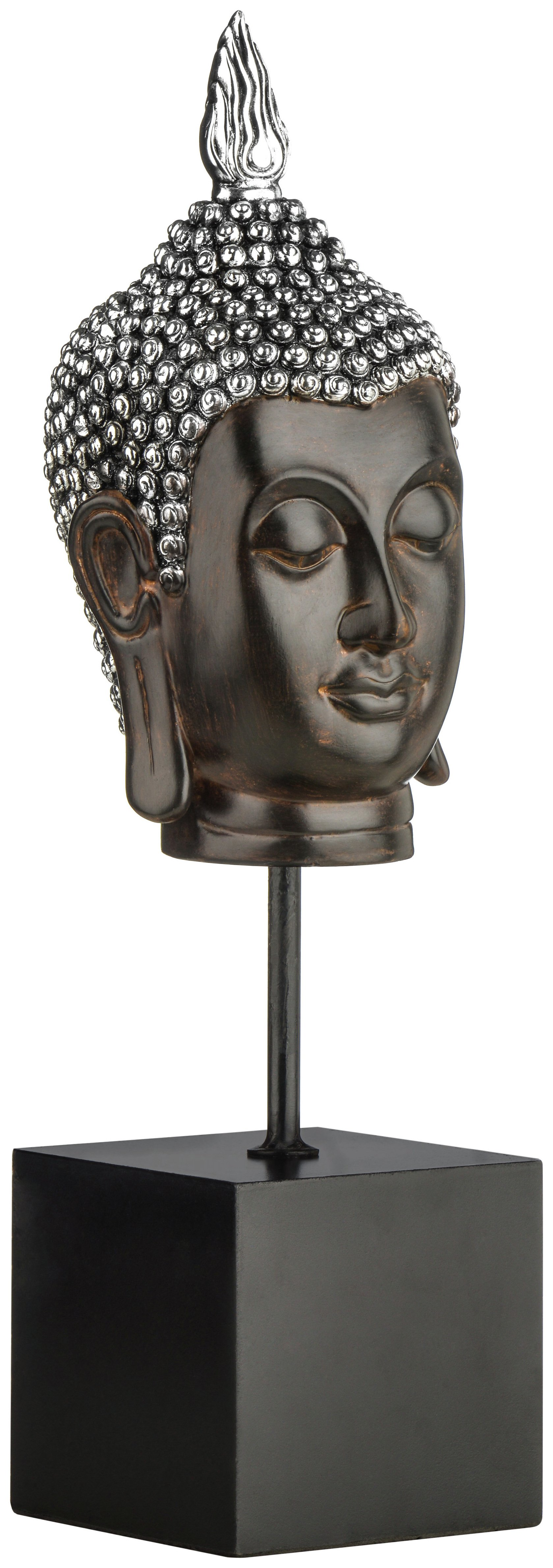 Premier - Housewares Silver - and Brown Buddha Head on Stand lowest price