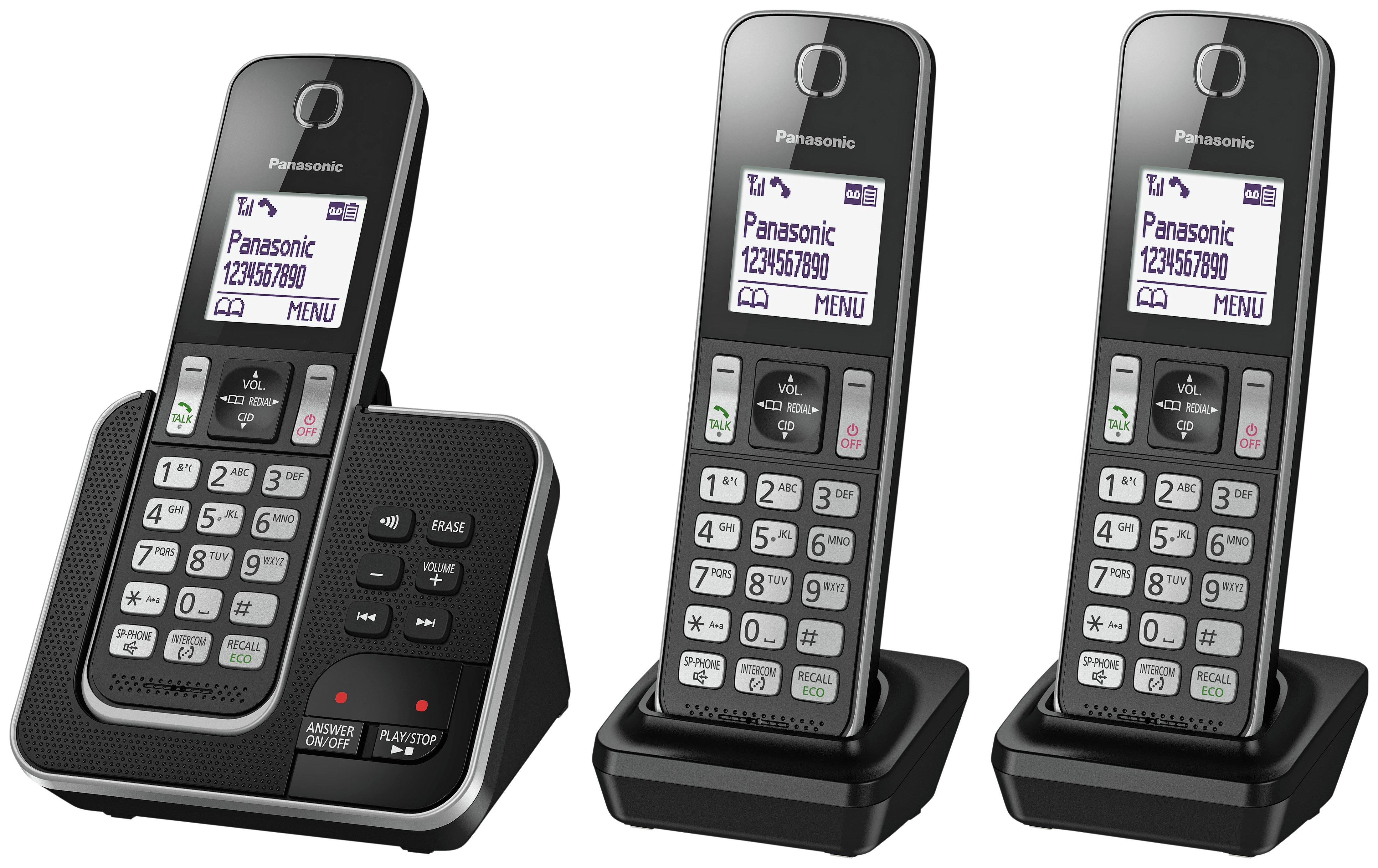 Panasonic Panasonic - Cordless Telephone & Answer Machine - Triple