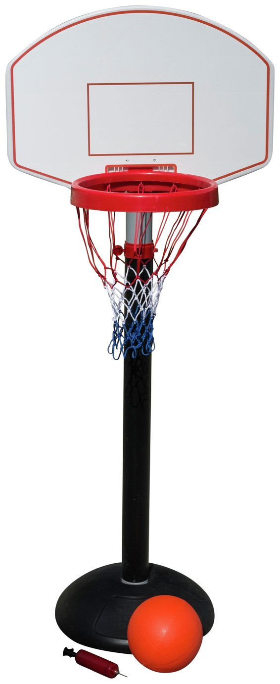 Traditional Garden Games   Junior Adjustable Basketball Set