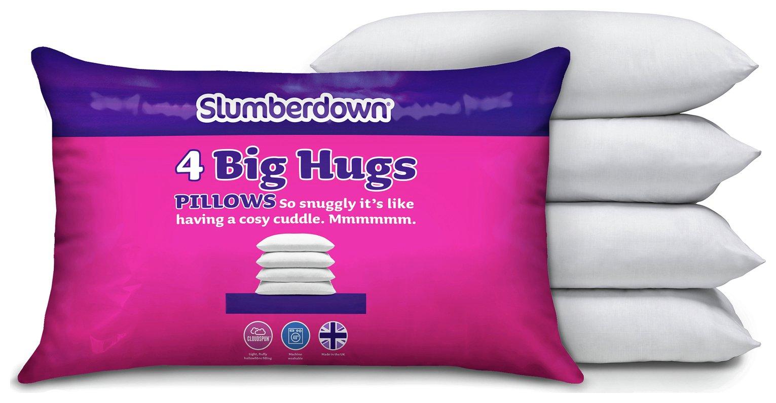 Image of Slumberdown - Big Hugs 4 Pack of Pillows