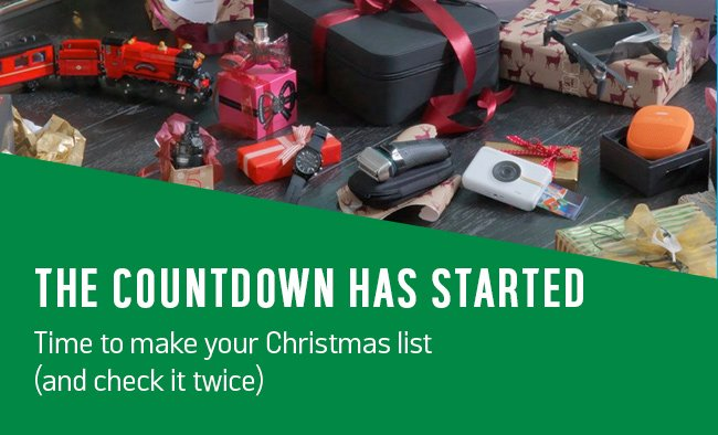 The countdown has started. Time to make your Christmas list (and check it twice).