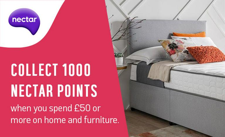 Collect 1000 bonus Nectar points when you spend £50 or more on home and furniture.